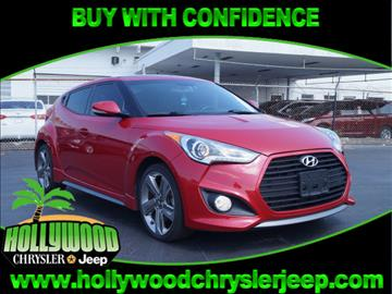 2014 Hyundai Veloster Turbo for sale in Hollywood, FL