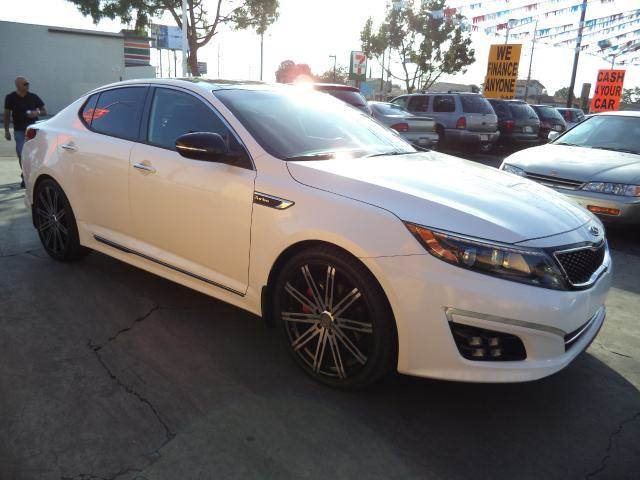 2014 KIA OPTIMA SXL TURBO 4DR SEDAN white lowlowlowest price we have no salesmen following y