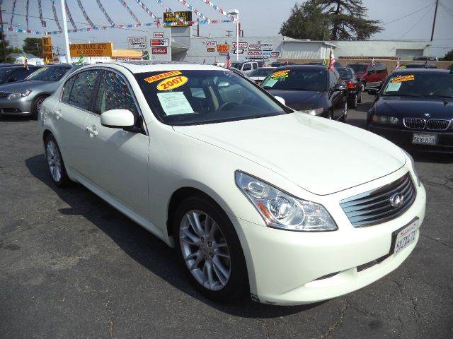 2007 INFINITI G35 SPORT 4DR SEDAN 35L V6 5A white lowlowlowest price guaranteed we have no
