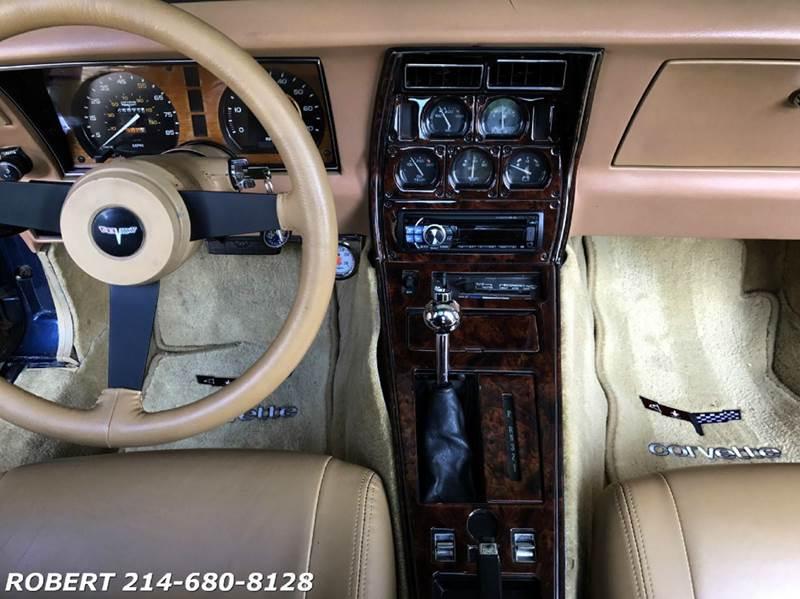 1981 Chevrolet Corvette 2dr COUPE T-TOP - Dallas TX