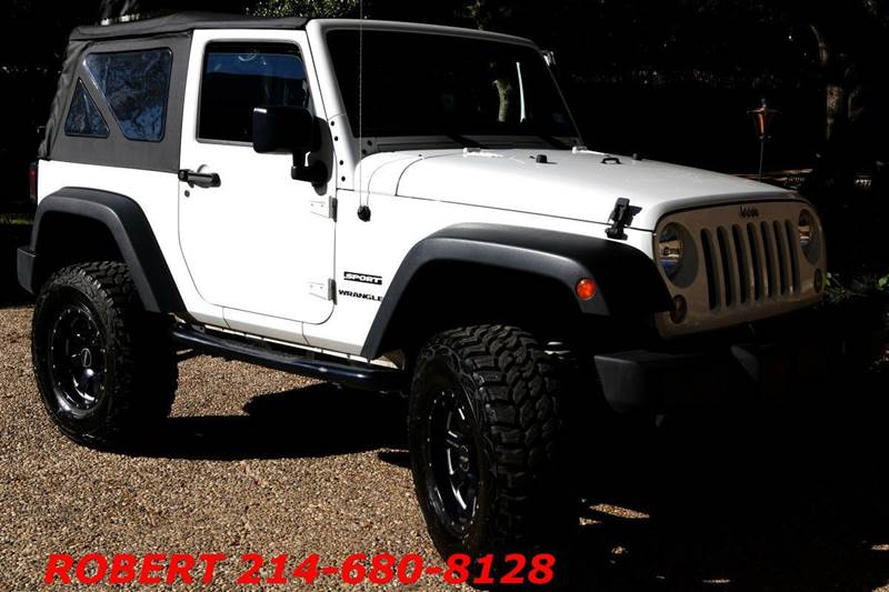 2014 jeep wrangler sport 4x4 4 lifted sport in dallas tx. Black Bedroom Furniture Sets. Home Design Ideas