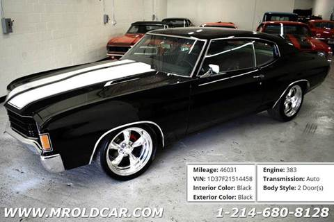 1972 Chevrolet Chevelle for sale in Dallas, TX