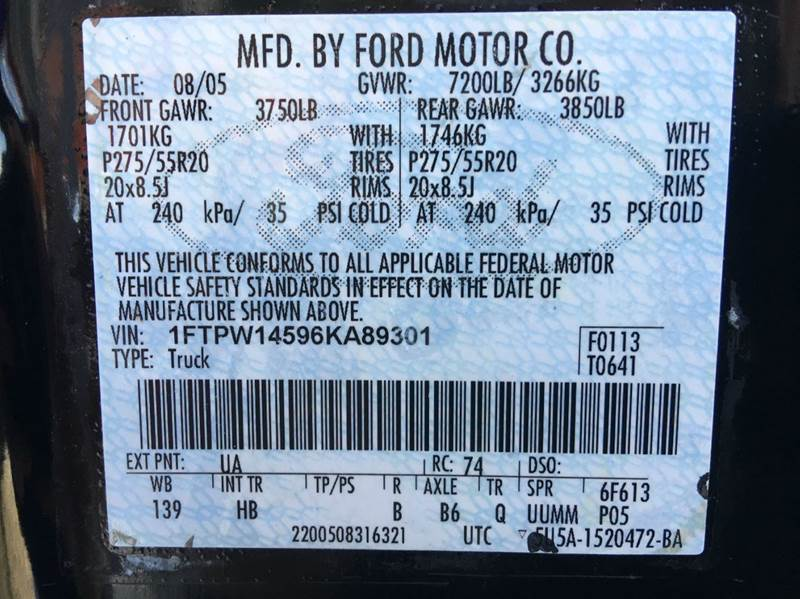 2006 Ford F-150 Lariat 4dr SuperCrew 4WD Styleside 5.5 ft. SB - Anchorage AK