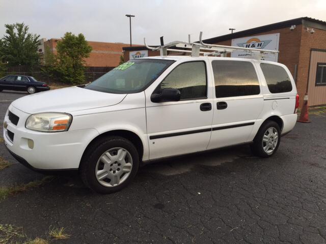 2007 chevrolet uplander cargo 4dr extended mini van in charlotte nc h h enterprise auto. Black Bedroom Furniture Sets. Home Design Ideas