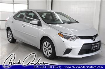 2014 Toyota Corolla for sale in Excelsior Springs MO