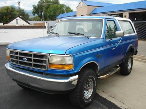 1992 Ford Bronco for sale in Frontier Motors Ltd, CO