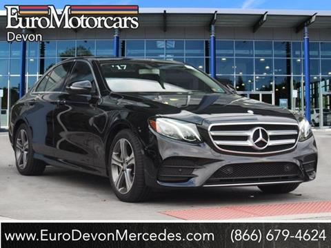 2017 mercedes benz e class for sale for Mercedes benz of devon pa