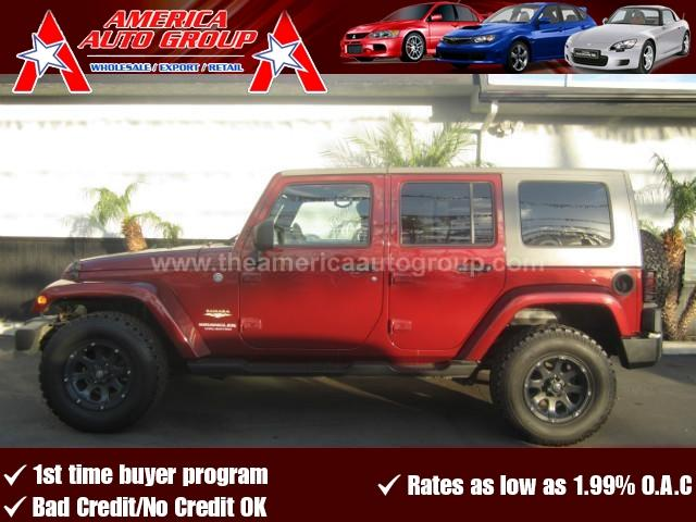 2008 JEEP WRANGLER UNLIMITED UNLIMITED SAHARA SPORT UTILITY 4 burgandy abs 4-wheel air conditio