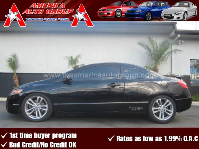 2007 HONDA CIVIC SI COUPE 2D black abs 4-wheel air conditioning alloy wheels amfm stereo cr