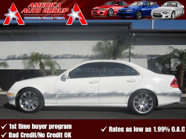 2007 MERCEDES-BENZ E-CLASS 35L white beautiful color combinatioin white on gray leather com