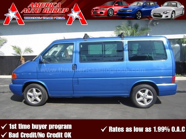 2001 VOLKSWAGEN EUROVAN MV blue all advertised prices are cash  tax  lic  all government fee