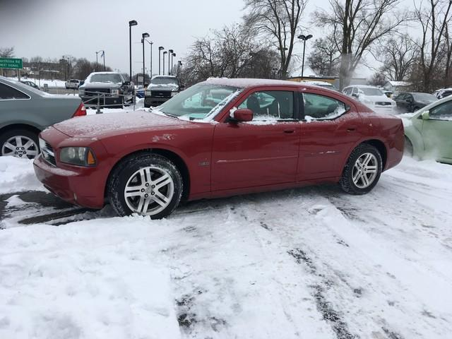 2006 DODGE CHARGER RT 4DR SEDAN red leather rt automatic v8 clean condition inside and out c