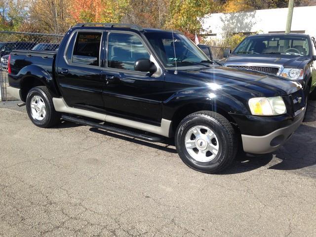 2003 FORD EXPLORER SPORT TRAC XLT 4DR CREW CAB SB RWD black all power v6 cloth interior call n