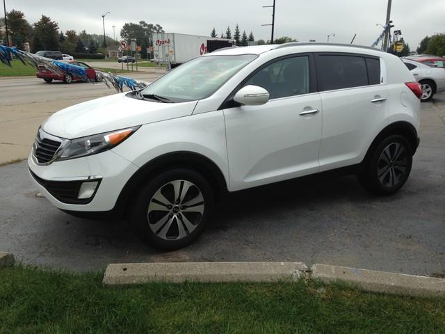2012 KIA SPORTAGE EX 4DR SUV white black cloth interior all power fwd call now for fast credit