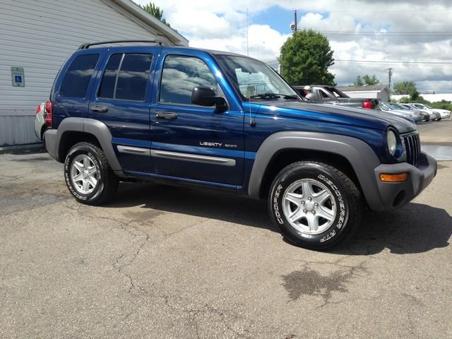 2002 JEEP LIBERTY SPORT 4DR 4WD SUV blue cloth interior 4x4 v6 all power options call now for