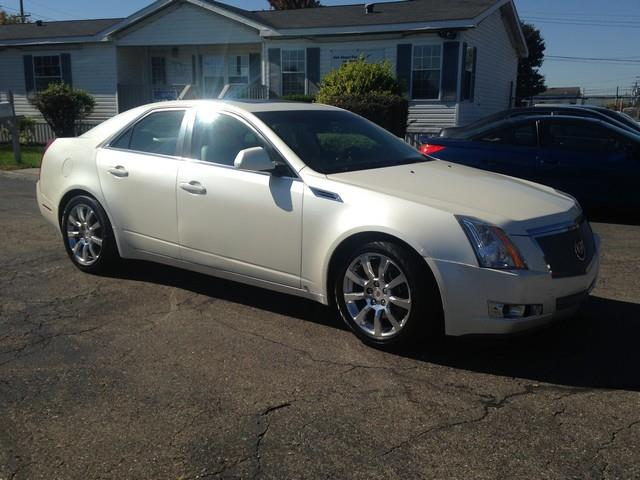 2008 CADILLAC CTS 36L V6 AWD 4DR SEDAN white leather moon roof bose fully loaded call now fo