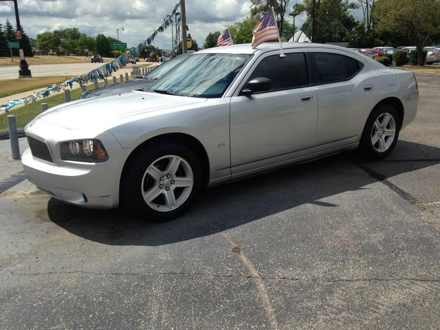 2008 DODGE CHARGER BASE 4DR SEDAN silver black cloth interior v6 power options call now for fa