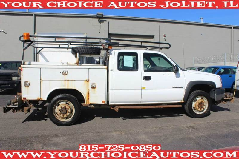 2004 chevrolet silverado 2500hd utility truck work truck 4x4 with service history tow lights. Black Bedroom Furniture Sets. Home Design Ideas