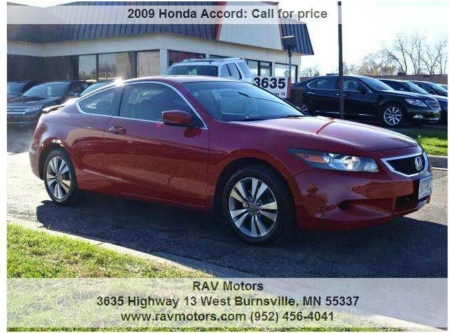 2009 honda accord for sale in minnesota for Honda dealership burnsville mn