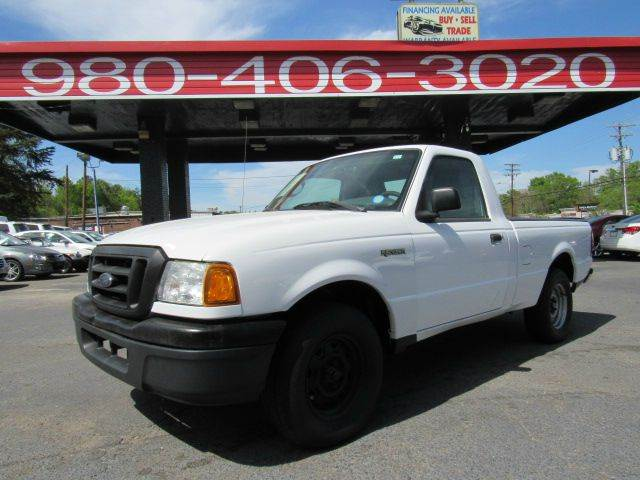 2005 FORD RANGER XL 2DR STANDARD CAB RWD SB 75 P white 75 payment financing available for al