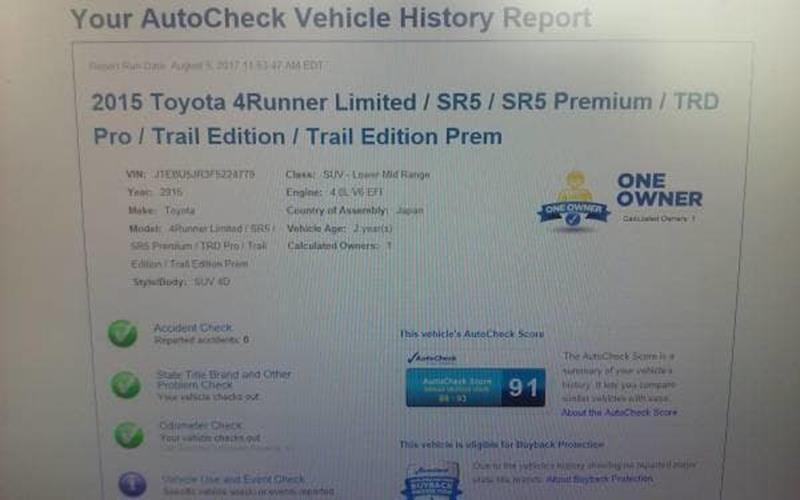 2015 Toyota 4Runner  - Livingston MT