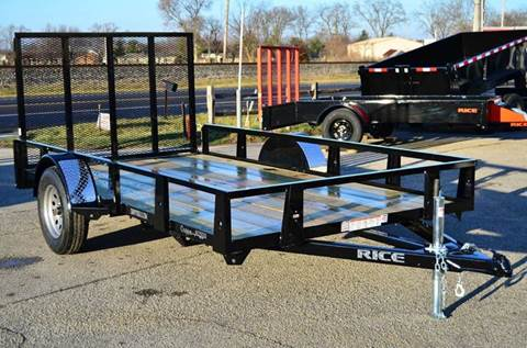 2016 Rice Trailers 76 x 12 Utility with gate