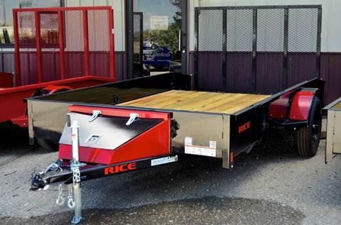 2016 Rice Trailers 76 X 12 Stealth Utility