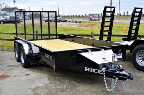 2017 Rice Trailers 76 X 14 Stealth Utility