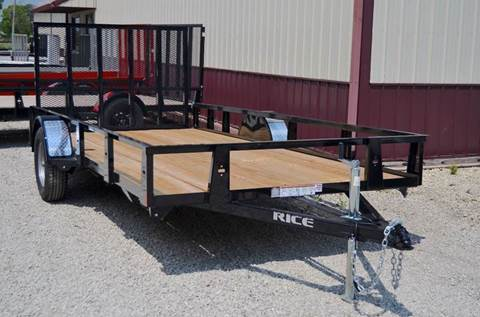 2017 Rice Trailers 76 x 14 Utility