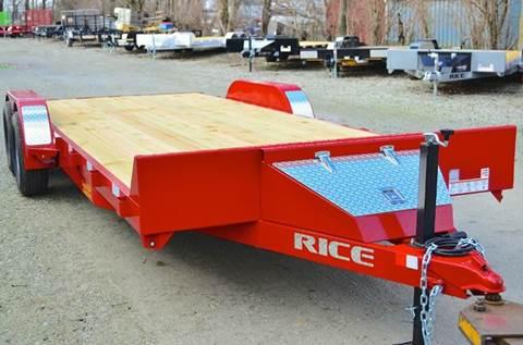 2016 Rice Trailers 82 X 20 10k Magnum Car Hauler