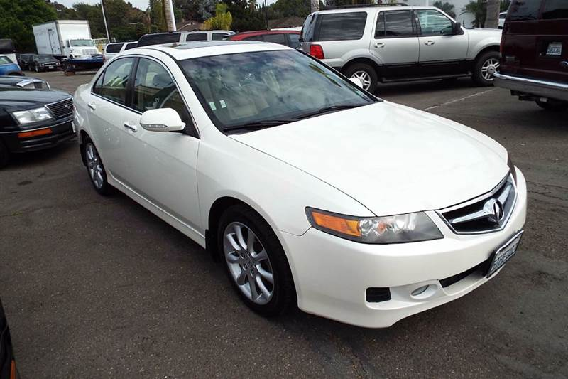 2006 ACURA TSX BASE WNAVI 4DR SEDAN WNAVIGATI white abs - 4-wheel air filtration airbag deact