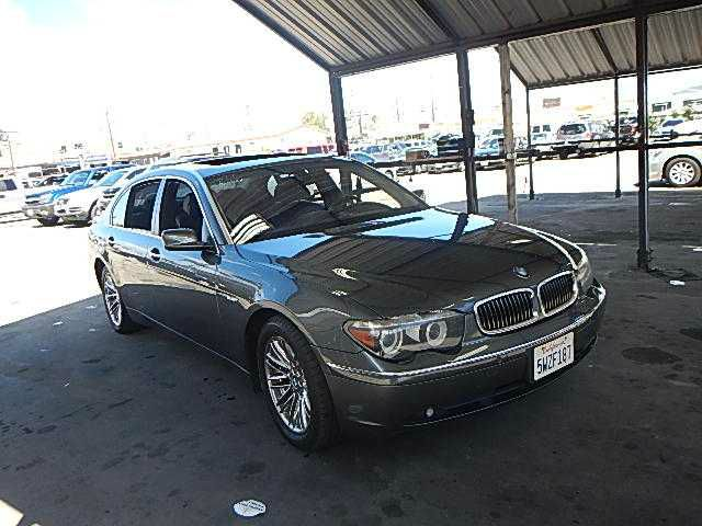 2005 BMW 7 SERIES 745LI dark grey abs brakesair conditioningalloy wheelsamfm radioanti-brake