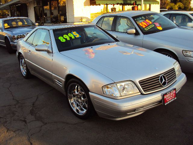 2000 MERCEDES-BENZ SL-CLASS SL500 silver silver exterior with matching silver hard top black leath