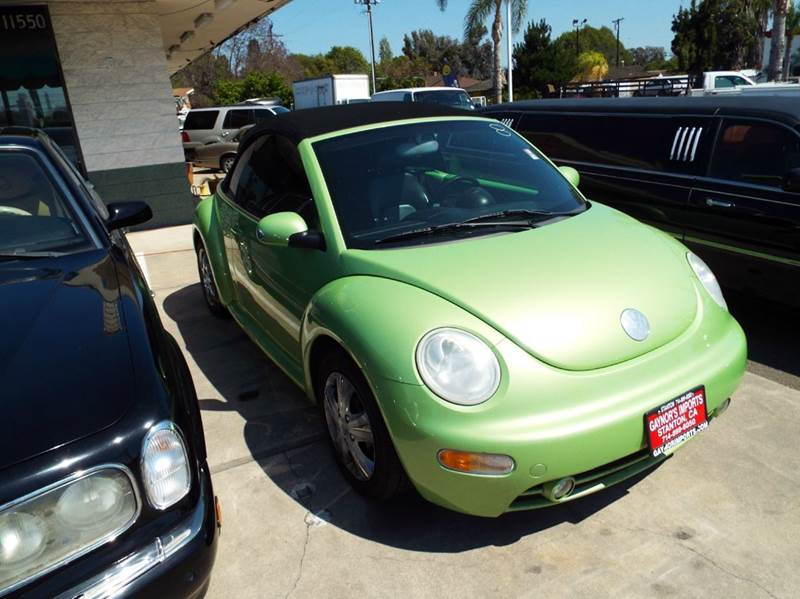 2004 VOLKSWAGEN NEW BEETLE GLS 2DR CONVERTIBLE light green abs - 4-wheel anti-theft system - ala