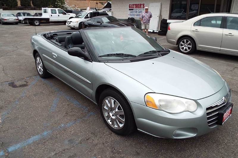 2004 CHRYSLER SEBRING TOURING 2DR CONVERTIBLE silver center console clock convertible roof - po