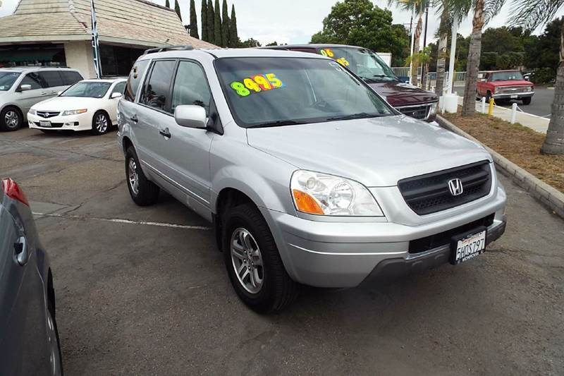 2004 HONDA PILOT EX-L 4DR 4WD SUV WLEATHER AND E silver 7 passenger 3rd row seat leather   4wd