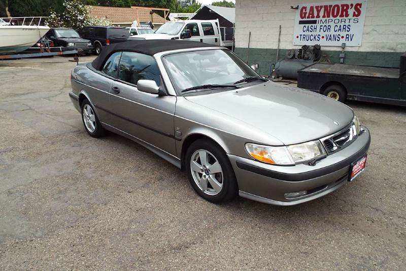 2003 SAAB 9-3 SE 2DR TURBO CONVERTIBLE grey the summer is coming time for tops down and enjoy the