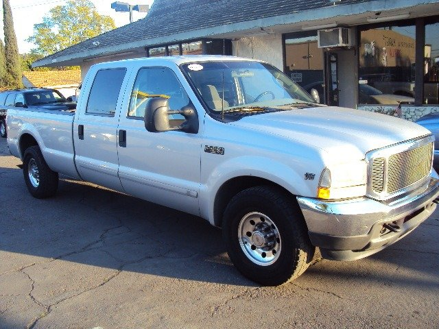 2003 FORD F350 XLT CREW CAB LONG BED 2WD silver abs brakesair conditioningamfm radioanti-brake