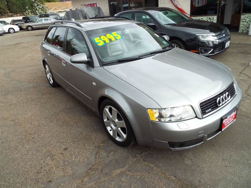 2004 AUDI A4 18T AVANT QUATTRO AWD 4DR WAGON grey abs - 4-wheel anti-theft system - alarm cd c