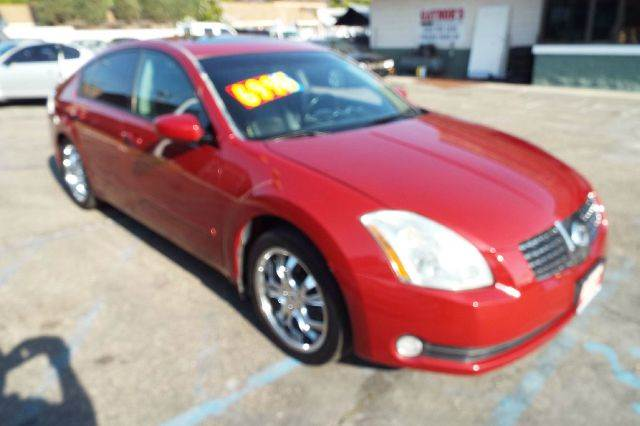 2005 NISSAN MAXIMA 35 SE 4DR SEDAN maroon this is on sale for the month on a cash deal plus fees