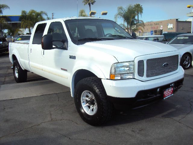 2003 FORD F350 XLT CREW CAB 4WD white sport model white with black and grey leather interior 4wda