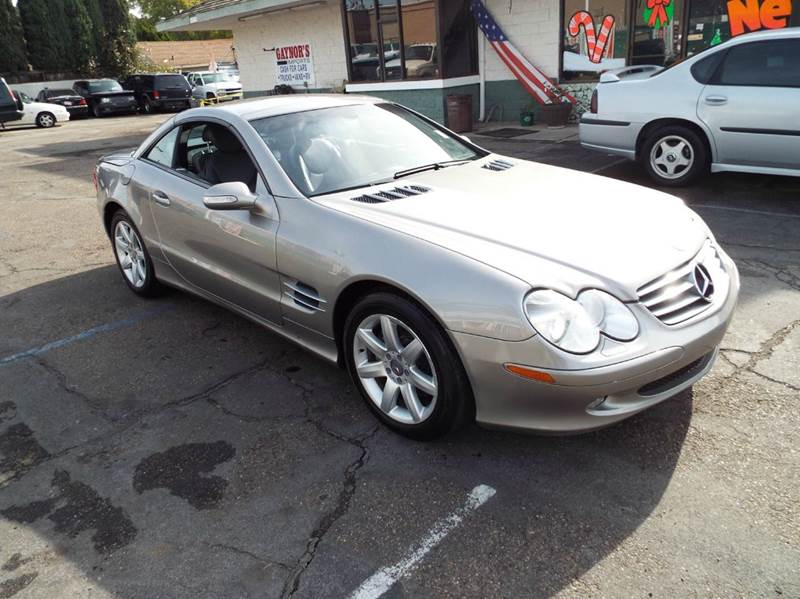 2003 MERCEDES-BENZ SL-CLASS SL500 2DR CONVERTIBLE silver sand abs - 4-wheel anti-theft system -
