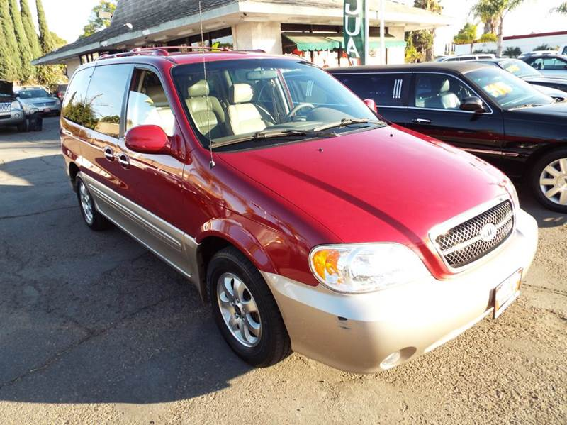 2004 KIA SEDONA LX 4DR MINI VAN maroon leather full power v6 auto runs and looks great cassette