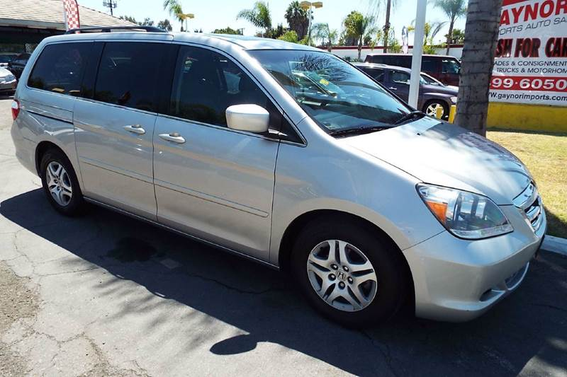 2007 HONDA ODYSSEY EX-L WNAVI WDVD 4DR MINI VAN W silver this is a labor day special price 108