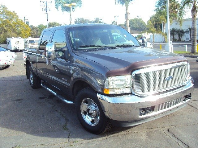 2003 FORD F250 XLT CREW CAB 2WD grey turbo diesel crew cab short bed xlt chrome wheels full power