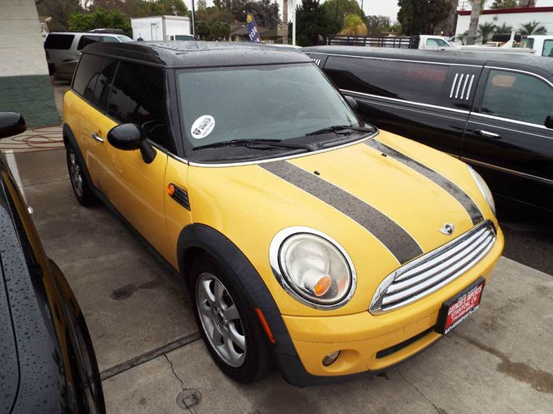 2009 MINI COOPER CLUBMAN BASE 3DR WAGON yellow 2-stage unlocking doors abs - 4-wheel air filtra