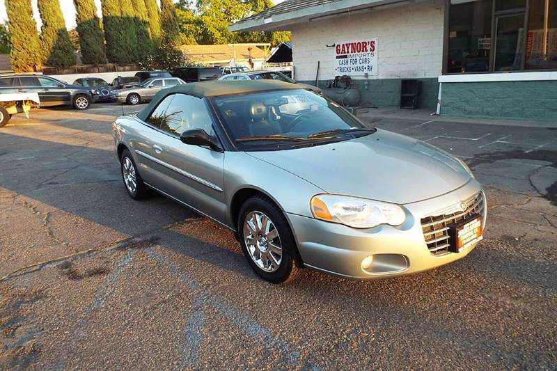 2004 CHRYSLER SEBRING LIMITED 2DR CONVERTIBLE light green abs - 4-wheel anti-theft system - alar