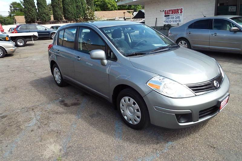 2012 NISSAN VERSA 18 S 4DR HATCHBACK 4A grey abs - 4-wheel active head restraints - dual front
