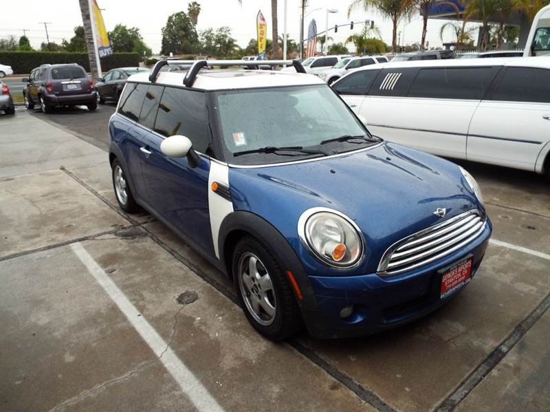 2009 MINI COOPER CLUBMAN BASE 3DR WAGON bluewhite 2-stage unlocking doors abs - 4-wheel air fi