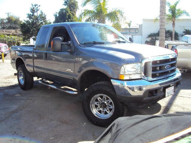 2004 FORD F250 LARIAT SUPERCAB 4WD met grey 4 wheel drive full power leather chrome alloy wheels o